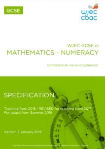 WJEC GCSE Mathematics - Numeracy Spec