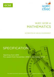 GCSE Maths Specification
