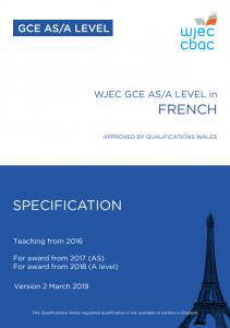 Wjec Gce French Specification