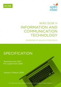 GCSE ICT Specification