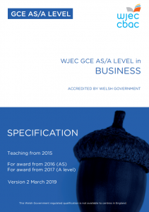 AS/A Level Business Specification
