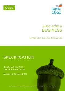 GCSE Business Specification