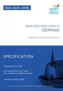 AS/A Level German Specification