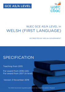 AS/A Level Welsh Language Specification