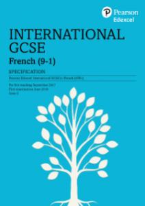Pearson Edexcel IGCSE French
