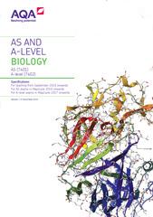 AQA A Level Biology Spec